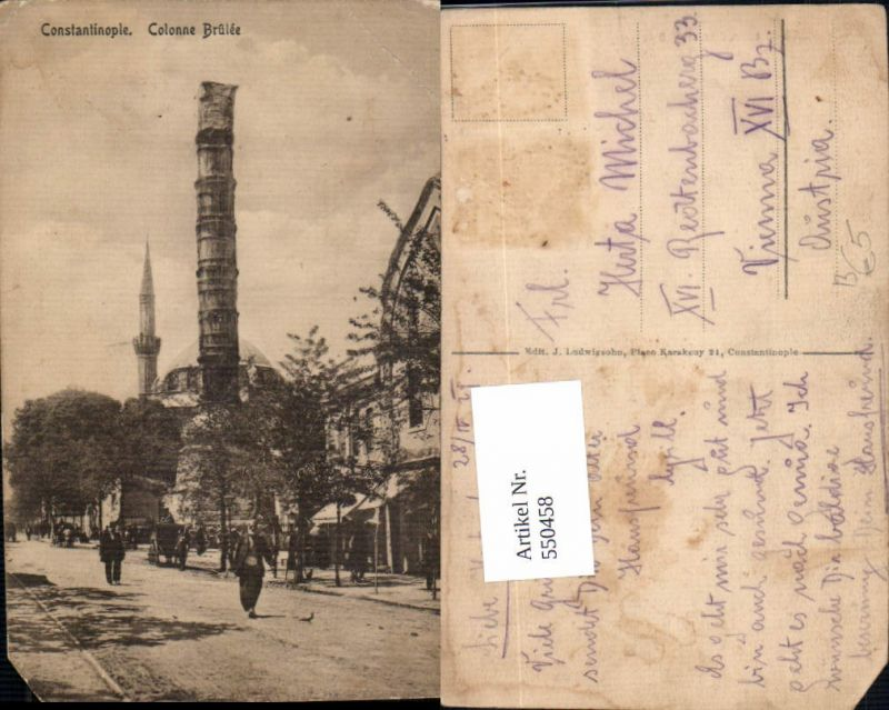 550458,Turkey Constantinople Colonne Brulee Mosche Mosquee Mosque
