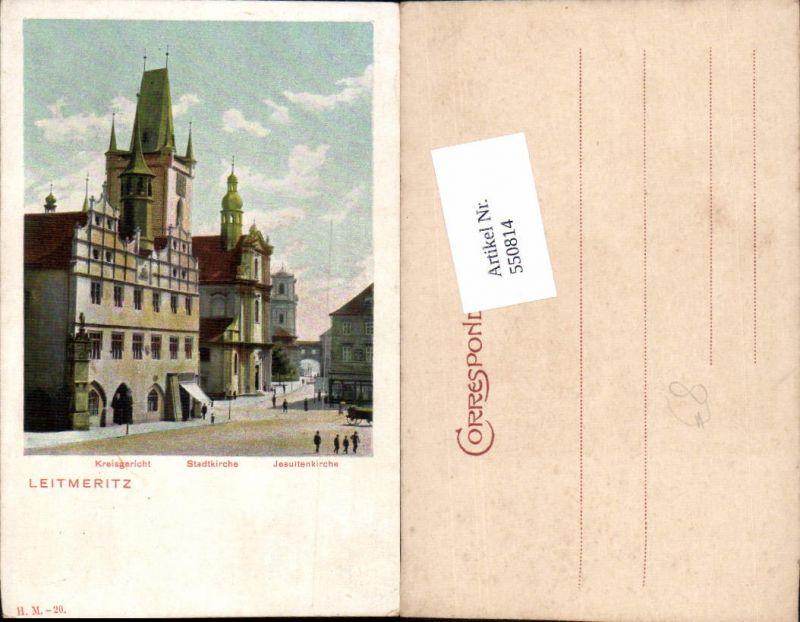 550814,Tschechien Leitmeritz Litomerice Kreisgericht Jesuitenkirche