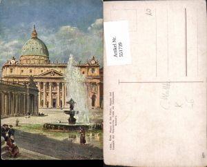 551739,C. Wuttke Vatikan Vaticano Rom Roma Petersdom Petersplatz
