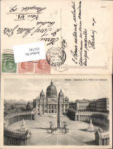551741,Vatikan Vaticano Rom Roma Petersdom Petersplatz Obelisk