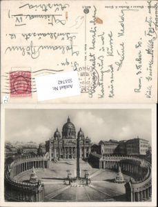 551742,Vatikan Vaticano Rom Roma Petersdom Petersplatz Obelisk