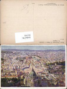551743,Künstler AK Nachbargauer Vatikan Vaticano Rom Roma Petersdom Petersplatz