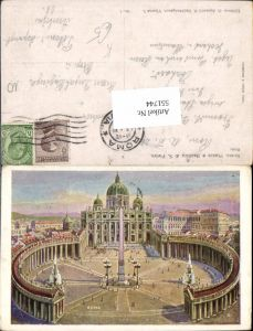 551744,Nachbargauer Vatikan Vaticano Rom Roma Petersdom Petersplatz Obelisk