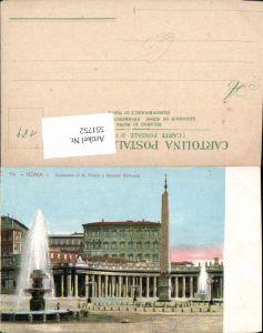 551752,Vatikan Vaticano Rom Roma Petersdom Petersplatz Obelisk