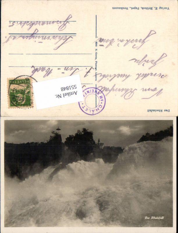 551848,Rheinfall Laufen Schaffhausen Neuhaus Wasserfall