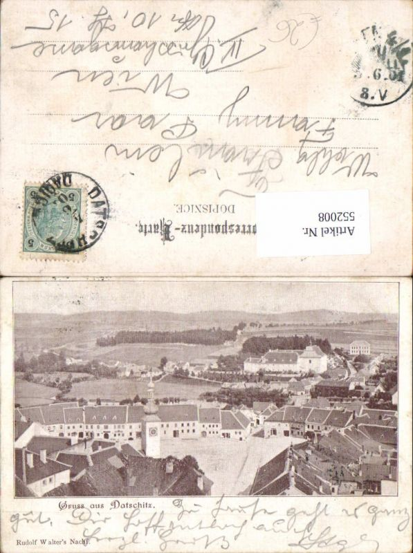 552008,tolle AK Gruß aus Datschitz Dacice Böhmen Südböhmen