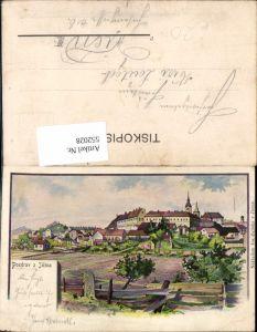 552028,tolle Lithographie Jicina Jicin Königgrätz