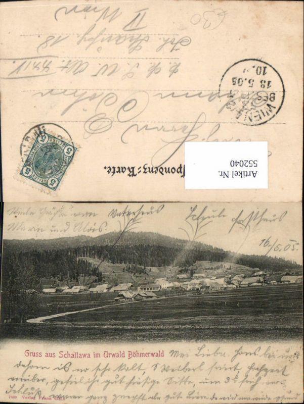 552040,tolle AK Lenora Gruß aus Schattawa im Urwald Böhmerwald Zaton Prachatice