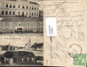552046,tolle AK Rausenbruck Strachotice Znaim Znojmo Gasthaus Krappel Warenhandlung Leitner