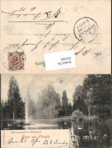 552340,tolle AK Gruß aus Olmütz Olomouc Schwanenteich im Stadtpark
