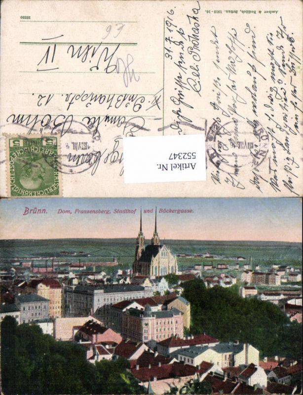 552347,Brno Brünn Franzensberg Stadthof Bäckergasse
