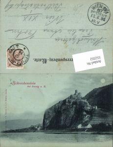 552352,Mond Lithographie Schreckenstein b. Aussig an der Elbe Usti nad Labem
