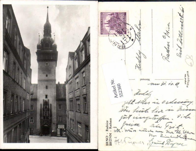 552360,Brno Brünn Rathaus