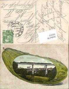 552373,tolle AK Gurke Lithographie Znaim Znojmo an der Thaya Nordwestbahnbrücke