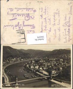 552379,Tetschen an der Elbe Decin Brücke Bodenbach Aussig