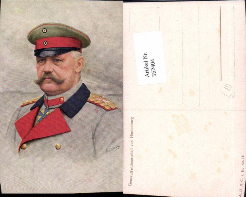 552404,tolle Künstler AK Generalfeldmarschall von Hindenburg