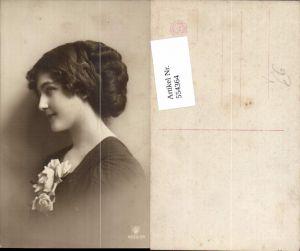 554364,tolle Foto-AK Frau Mode Portrait Rosen pub RPH 4583-34
