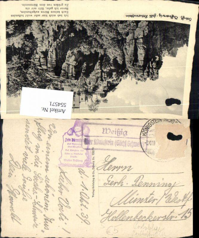 554571,Stempel Posthilfsstelle Weißig über Königstein Struppen