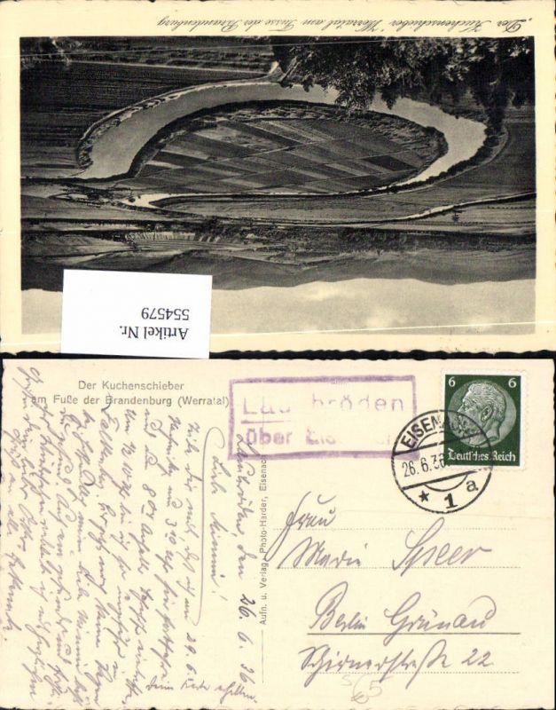 554579,Stempel Posthilfsstelle Werratal Lauchröden Eisenach n. Berlin Grünau