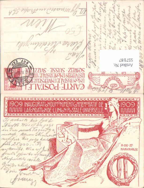 557187,Künstler Lithographie Linck 1909 Inaugurationdum Monument Kt. Bern