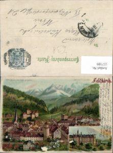 557189,tolle Lithographie Halt gegen Licht Feldkirch pub Meteor pub Carl Otto Hayd