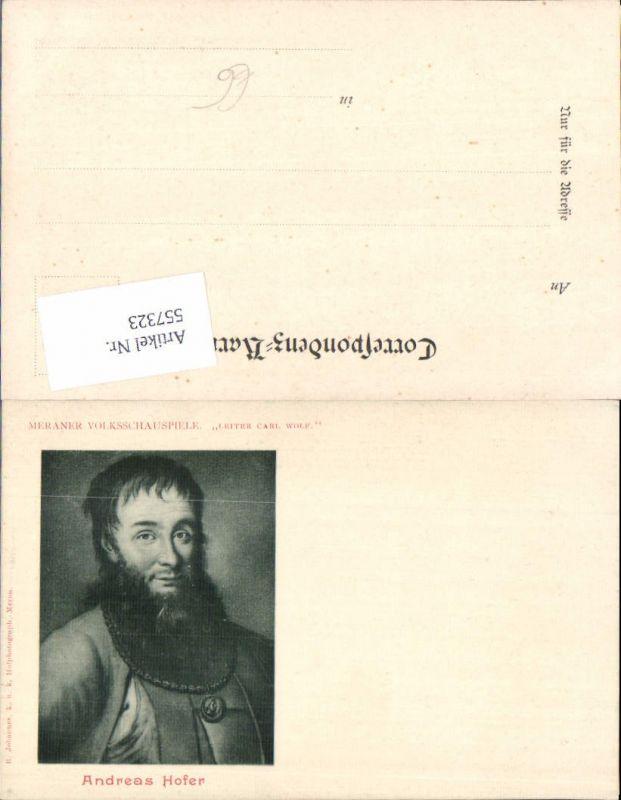 557323,Tiroler Freiheitskampf Andreas Hofer Portrait Meraner Volksschauspiele Carl Wolf Leiter