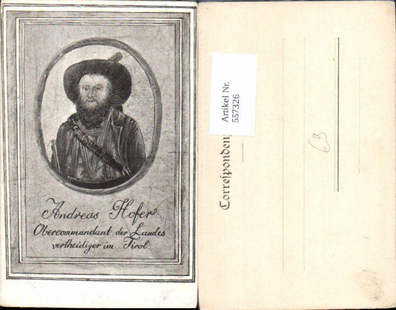 557326,tolle Künstler AK Tiroler Freiheitskampf Andreas Hofer Portrait