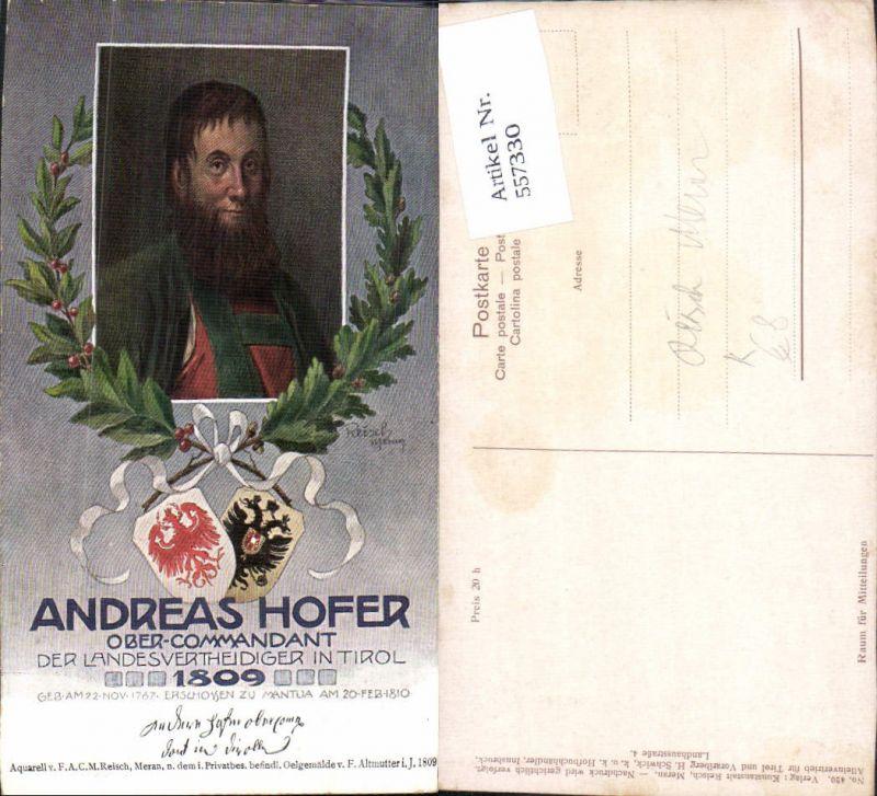 557330,Künstler AK Reisch Meran Tiroler Freiheitskampf Andreas Hofer 1809