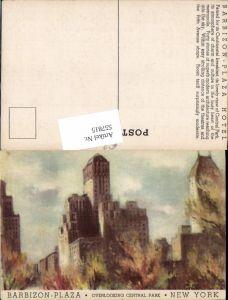 557815,Künstler AK New York City Barbizon Plaza Hotel Central Park