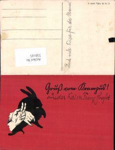 558185,seltene AK Gruß vom Krampus Nikolo Nikolaus pub C.H.W. VIII/2 2494-4