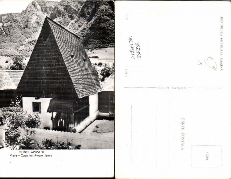 558235,Romania Muntii Apuseni Vidra Casa Iui Avram Iancu