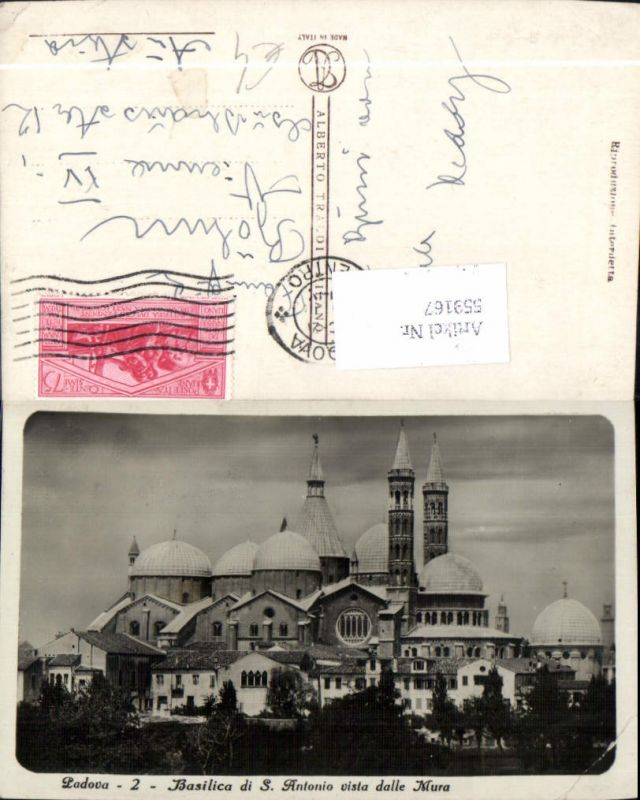 559167,Italy Padova Padua Basilica di S. Antonio vista dalle Mura Basilika