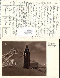 559630,Weihnachten Kirche Winterlandschaft Mond Mondsichel