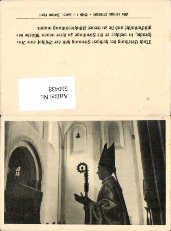 560438,Heiligenbildchen Andachtsbild Bischof Firmung Die heilige Liturgie