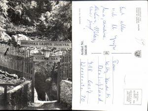 560618,Slovakia Dobšiná Slovensky Rai Dobsinska iadova jaskyna Vchod do jaskyne