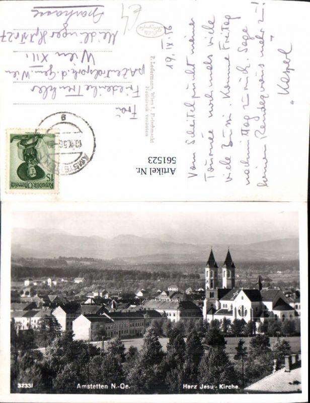561523,Foto Ak Amstetten Herz-Jesu-Kirche