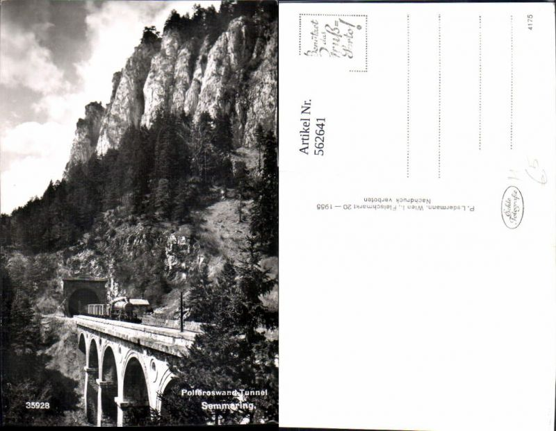 562641,Eisenbahn Lokomotive Zug Polleroswand Tunnel Semmering Dampflok Viadukt