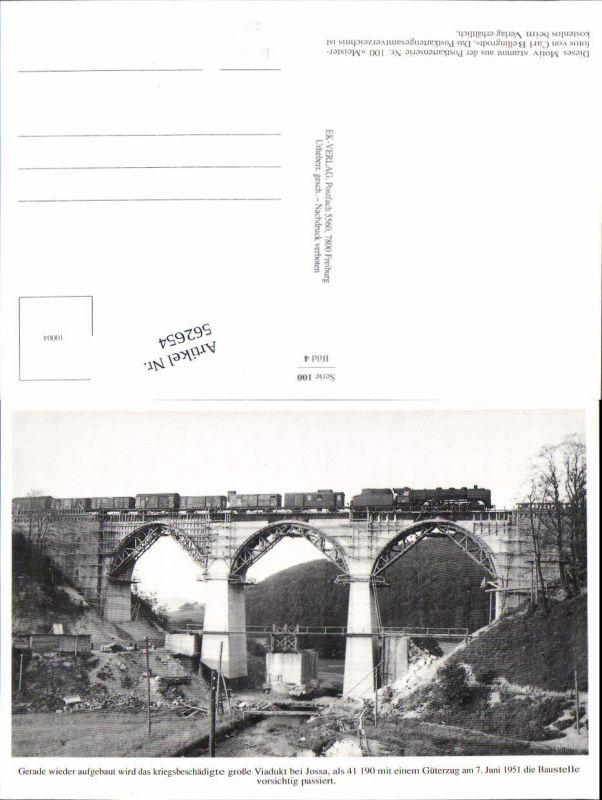 562654,Eisenbahn Lokomotive Zug Viadukt Jossa 1951 Güterzug Carl Bellingrodt