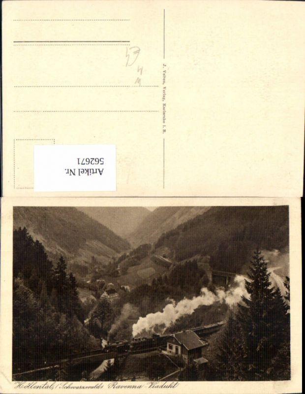 562671,Eisenbahn Lokomotive Zug Höllental Schwarzwald Ravenna Viadukt Dampflok