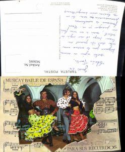 562695,Liedkarte Musica y Baile de Espana Para sus Recuerdos Flamenco Tango Spain Volkstypen