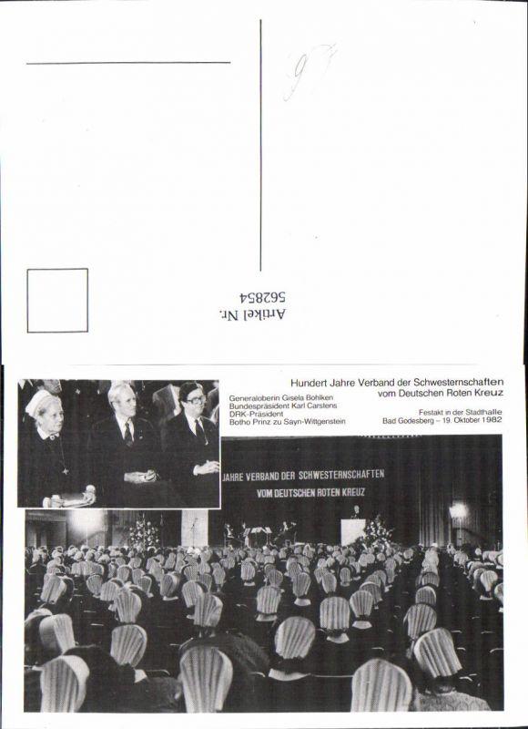 562854,Bundespräsident Karl Carstens Deutschland Rotes Kreuz 1982 Festakt Politiker Politik