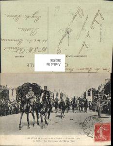 562856,Les Fetes de la Victoire Paris Joseph Joffre Ferdinand Foch WW1 Politiker Politik
