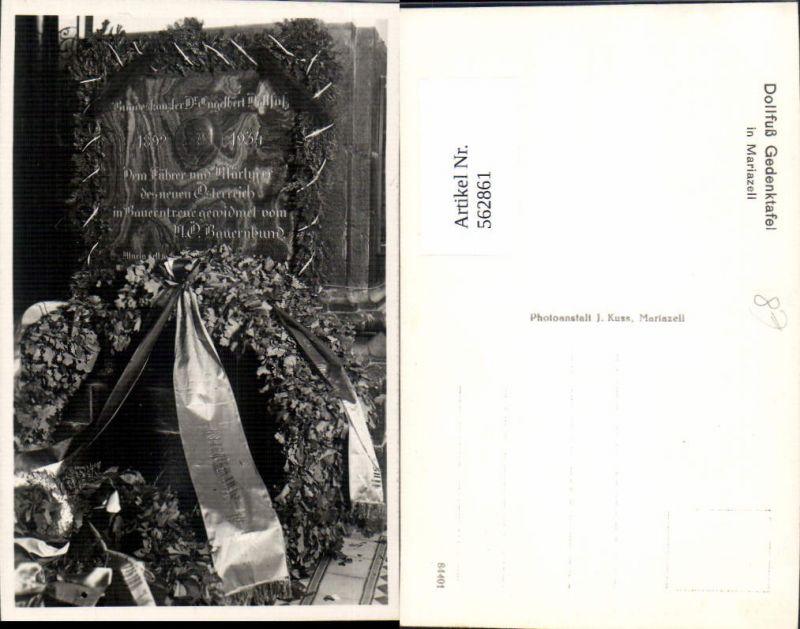 562861,Dollfuß Gedenktafel Mariazell Politiker Politik