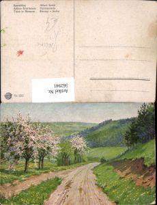 562941,Künstler Ak Baumblüte Bäume Baum
