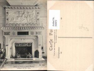 563072,Chateau du Pailly Haute Marne Cheminee du Petit Salon Kamin Ofen Heizung