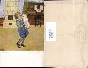 563079,Marianne Frimberger Sepperl tanzt Kachelofen Ofen Heizung Kind Hund Klavier pub B.K.W.I. 2297
