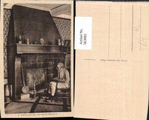 563082,Vieille cheminee costume de Maurienne Kamin Ofen Heizung