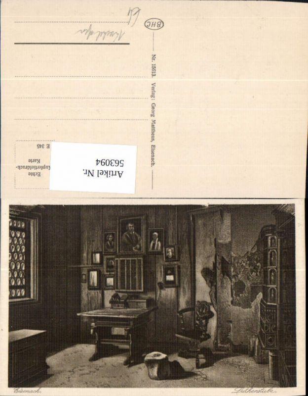 563094,Eisenach Wartburg Lutherstube Kachelofen Schreibtisch Ofen Heizung