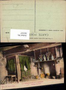 563107,La Normandie Pittoresque Interieur Normand Beet Kamin Herd Interieur Einrichtung