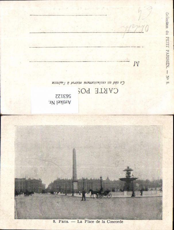 563122,Paris La Place de la Concorde Obelisk Monument Brunnen Kutsche